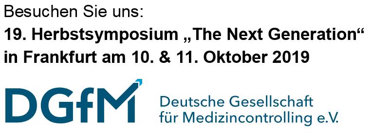 Besuchen Sie uns:  Herbstsymposium 2019 in Frankfurt
