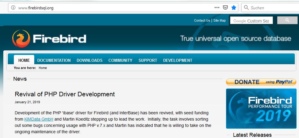 PHP-Treiber für Firebird